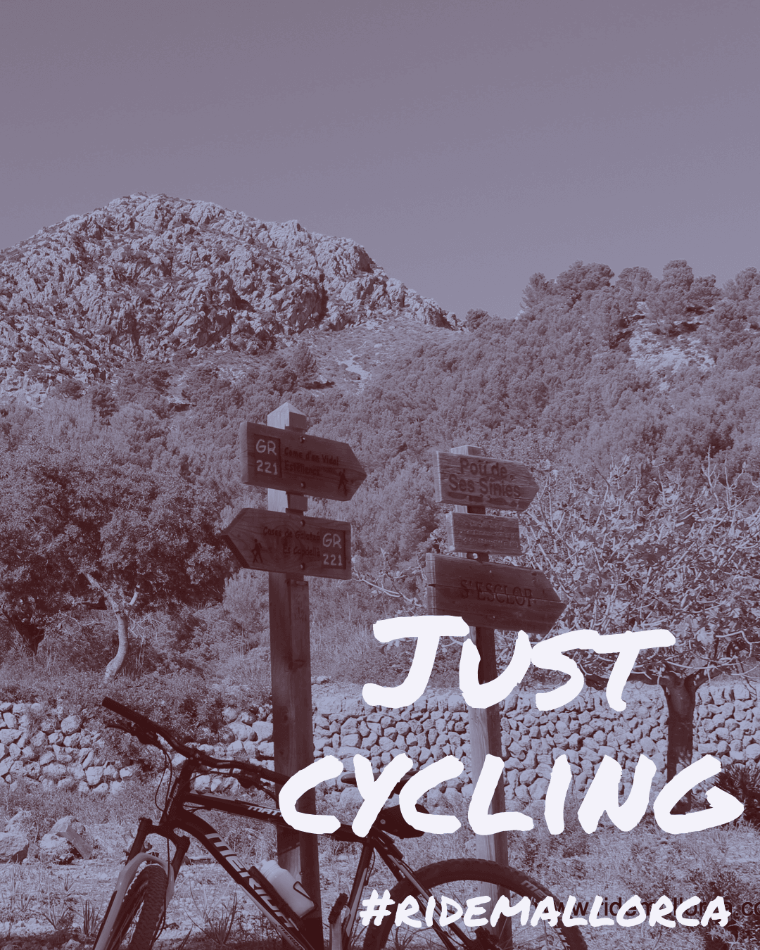 Just cycling banner